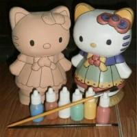 Jual Mainan Edukatif Mewarnai Celengan Keramik Hello Kitty Murah