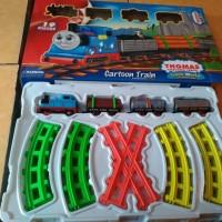 Thomas cartoon train bawa kayu balok free battery