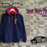 Jaket Vans Navy Pink Pakaian Wanita Blazer Fleece Nevy