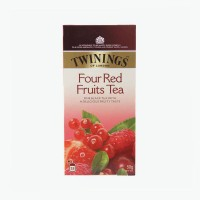 Twinings Black Tea with Four Red Fruits Tea Sachet 50gr - Teh Import