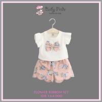 Baju Setelan Anak / Bayi / Balita - FLOWER RIBBON SET