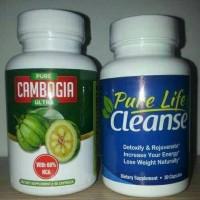 PAKET Pure Cambogia Ultra + Pure Life Cleanse (Original USA)