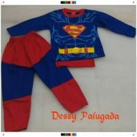 Jual Baju Anak Superman /Baju Karakter/ Setelan Anak/Kostum Anak/ Kaos Anak Murah