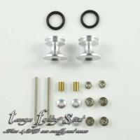 Rep Tamiya 15418 Roller Double Aluminum +Ring Karet 13-12mm SV -RDRL04