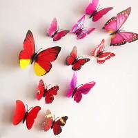 Perlengkapan Rumah 3D butterfly pattern simple design wall sticker