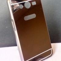 Alumunium Bumper Mirror Cover Case Casing Samsung Galaxy Core 2 Duos