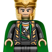 Lego Minifigure Loki Part out Set 6867