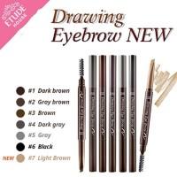 Jual Drawing Eye Brow New (isi lebih panjang) #1.Dark Brown Murah