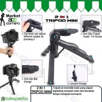 TRIPOD MINI HANDHELD & FOLDABLE For ACTION-CAM/DSLR (Canon,Sony,Nikon)