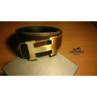 Belt Hermes Good Quality Brown Leather Strap Gold Buckle