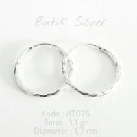 Perhiasan Perak Silver Asli 925 Lapis Emas Putih Anting AN 001