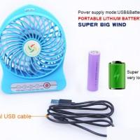 Kipas Mini Portable Mini Fan Unik Senter Murah Jombang