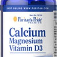 Puritan Calcium Magnesium with Vitamin D (120 Caplets) From USA