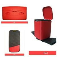 Tempat Sampah Mobil, Tempat Tissue Mobil, Tempat CD Mobil Warna Merah