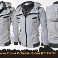 Jaket Anime Kamen Rider Kotaro Minami Double Zippers Hoodie (CT FH 15)