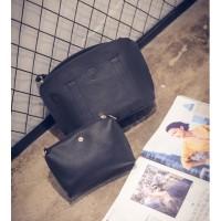 tas jinjing pouch satchel hitam wanita polos gothic gosh karen chloe