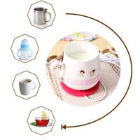 Jual Tatakan Gelas Pemanas Silikon USB Pad Warmer Coffe Milk Penghangat Murah