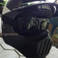 harga Helm Cakil Kacamata Hitam Doff Bintang Putih Tokopedia.com