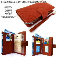 dompet hpo alexia gc kulit 1 hp android 5,5 inc mini coklat