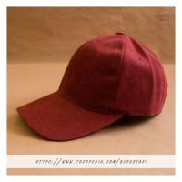 Topi Baseball Cap Merah Maroon Dewasa Polos Pria Wanita Casual Sport