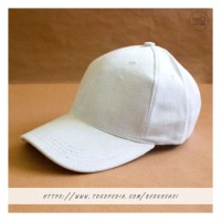 Topi Baseball Cap Putih Dewasa Polos Pria Wanita Casual Sport