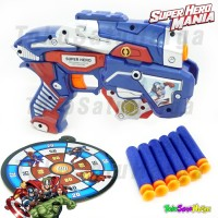 Mainan Pistol Model Nerf Peluru Busa RAKIT Avenger - Captain America