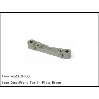 ZXOP-33 Rc Car Caster Racing 1/8 Buggy FRONT TOE IN PLATE BROWN