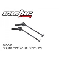 ZXOP-39 Rc Car Caster Racing 1/8 BUGGY FRONT CVD SET-15.8MM+SPRING