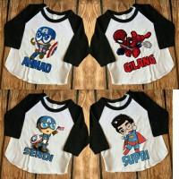 Kaos Anak / Kaos Raglan Anak Polos Gratis Sablon Gambar dan Nama