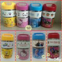 Jual New Rantang Stainless 2 Susun Hello Kitty/Frozen/Paul Frank/Spongebob Murah