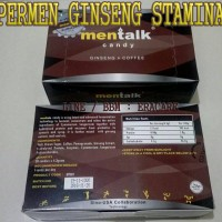 Permen Men-talk / Mentalk Ginseng Coffee Candy Untuk Stamina