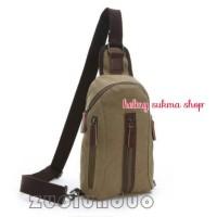 tas dada/punggung kanvas mugu 8825 krem,tas sling