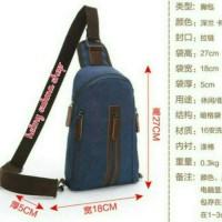 tas dada/punggung kanvas mugu 8825 biru,tas sling