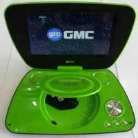 "GMC DIVX-808U-TV 9"" PORTABLE DVD PLAYER - HIJAU"