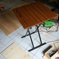 meja lipat bisa knock down uk.50x50x70