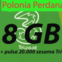 harga Kartu Perdana Internet Three 3 Tri Always On Aon 8gb 24jam Reguler Tokopedia.com