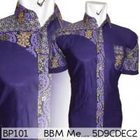 BP10 Kemeja Batik Pekalongan Elegan Pasangan Modern Pria Wanita Koko