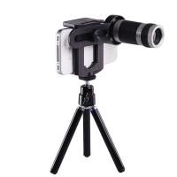 Lensa Tele Zoom 8x For HP Smartphone Telezoom Paket Mini Tripod Murah