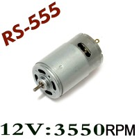 DC 12V 3550RPM High Speed Large Torque RS-555 555 Motor With fun AO08