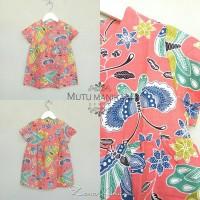 Jual Zena Pink Anak Batik Pastel Dress Wanita Baru   Baju Gaun / Dre
