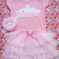 Jual Tutu Princess Set Baru | Baju Gaun / Dress Anak Terbaru Murah L