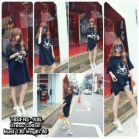 TBSFRSDress hitam, big size dress, blackdress, baju besar,