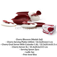 harga Tupperware Cherry Blossom (Wadah Saji) Tokopedia.com