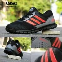 Sepatu Sport Adidas Duramo 7 Hitam Orange / olahraga senam cewek