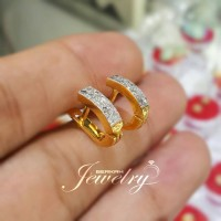 TERMURAH Giwang Anting Emas BERLIAN Eropa Natural Diamond