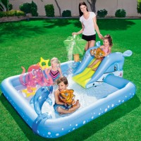 Jual Kolam Renang Anak Bestway Fantastic Aquarium Play Pool #53052 Murah