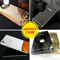 Case Bumper Mirror Oppo F1 / F1 Selfie With Sliding Backcase