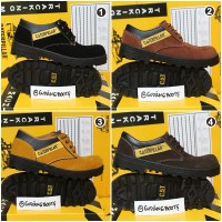 Sepatu pria caterpillar low safety boots suede