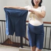 Celana Hamil Pendek Katun Jeans Super Jumbo