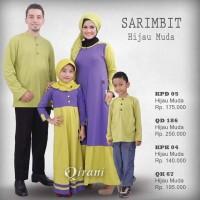 Qirani Sarimbit - Hijau Muda 01 - Jual Hijab dan Baju Muslim Keluarga